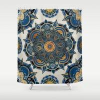mandala Shower Curtains featuring Mandala by Mantra Mandala