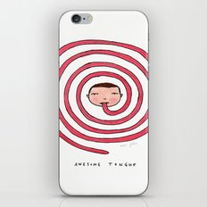 Awesome tongue iPhone & iPod Skin