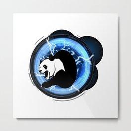 Angry Future Panda Metal Print