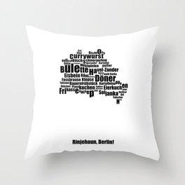 Berlin - Typocal Food Map Throw Pillow