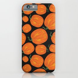 Halloween Neck Gator Black and Orange Jackolanterns iPhone Case