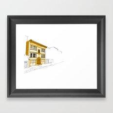 Yellow San Francisco Haus Framed Art Print