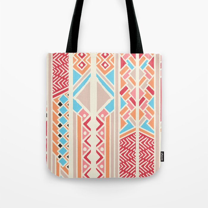 Tribal ethnic geometric pattern 033 Tote Bag