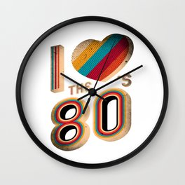 RETRO I LOVE THE 80'S VINTAGE Wall Clock