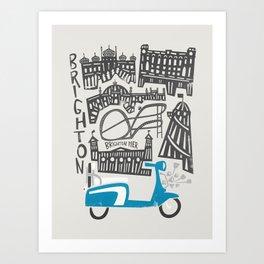 Brighton Cityscape Art Print