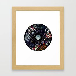 Mandala with Fabric Framed Art Print