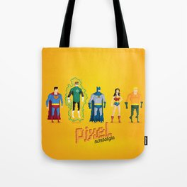 Justice League of America - Pixel Nostalgia Tote Bag