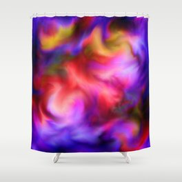 Free fall abstract Shower Curtain
