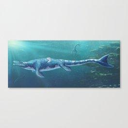 Tylosaurus Pembinensis Restored Canvas Print