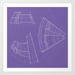 architectural drawings Art Print