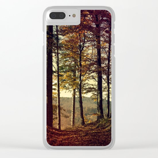 Forest in the colors of autumn. Clear iPhone Case