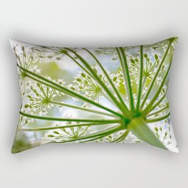 Delicate cow parsley Rectangular Pillow