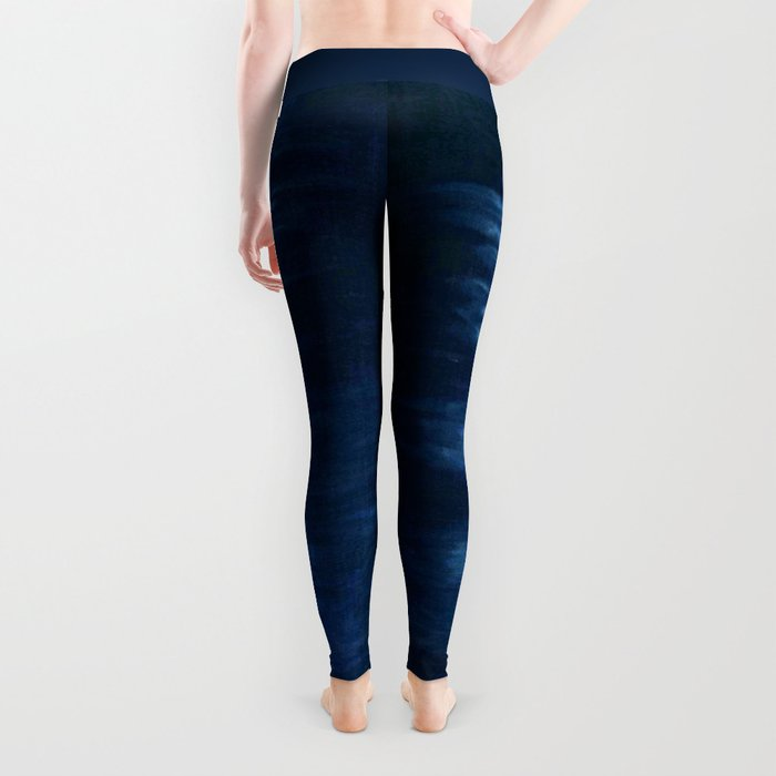 -A22- Indigo Traditional Original Arteresting Artwork. Leggings