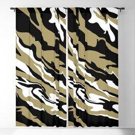 Golden Zebra Blackout Curtain