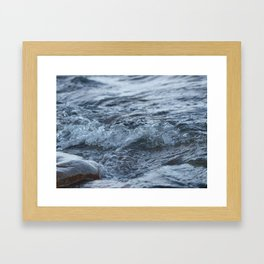 Stormy shore Framed Art Print