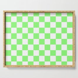Checkered (Lime & White Pattern) Serving Tray
