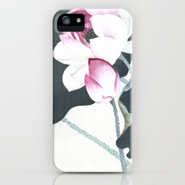 Lotus Flowers - Traditional Japanese Woodcut Print Art By Ohara Koson iPhone Case