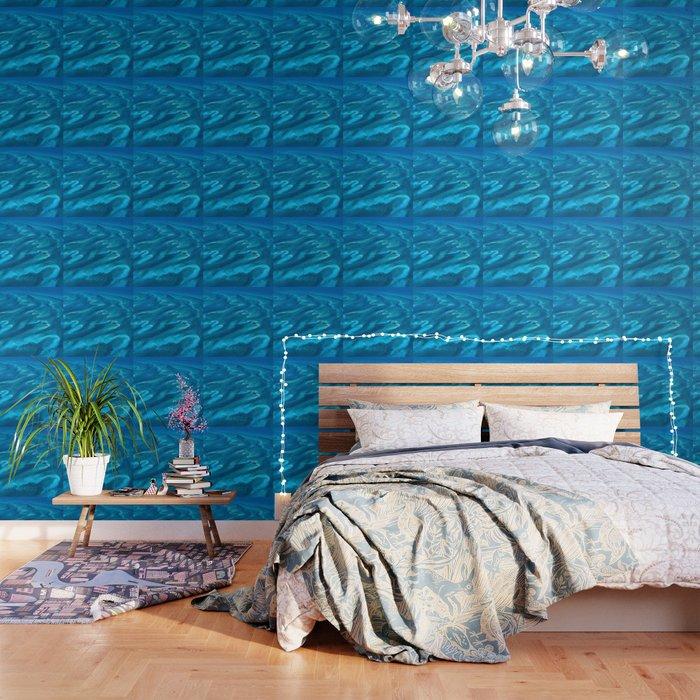 Dramatic Blue Ocean Waves Wallpaper