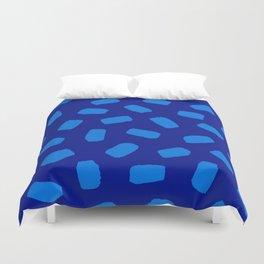 Brushstrokes in Blue Duvet Cover