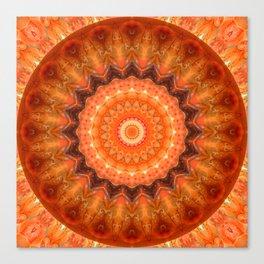 Mandala orange brown Canvas Print