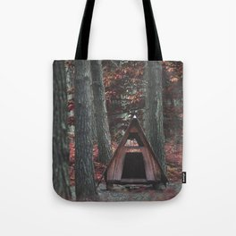 Forest Hut - Nature Photography Tote Bag