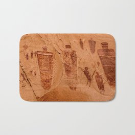 Horseshoe Canyon Great Gallery Group 2 Pictographs Bath Mat