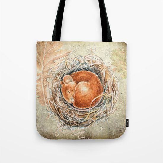 Mouse in the nest Tote Bag