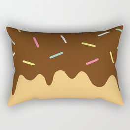 Donut with Chocolate icing and Sprinkles Rectangular Pillow