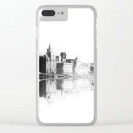 Liverpool Waterfront Skyline (Digital Art) Clear iPhone Case