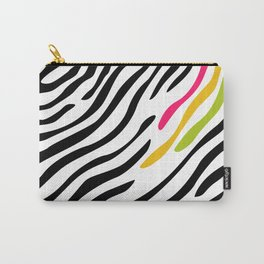 Zebra print. Multicolor Carry-All Pouch