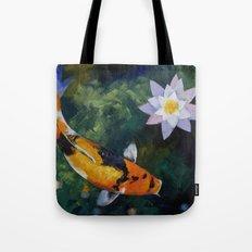 Showa Koi and Water Lily Tote Bag