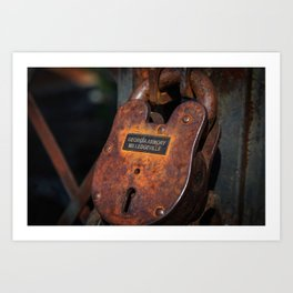 Rusty Lock Art Print