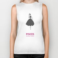pisces Biker Tanks featuring Pisces by Cansu Girgin