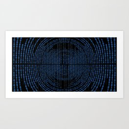 Binary Code Art Print