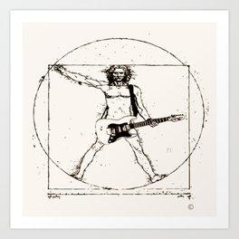 Guitar Man and Da Vinci Art Print