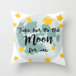 Bing Bong Moon Throw Pillow