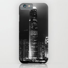 Hong Kong Island Skyline at Night iPhone Case