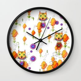 Owls are here Wall Clock