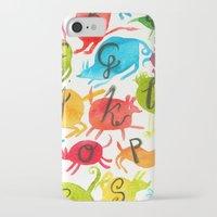 alphabet iPhone & iPod Cases featuring Alphabet by zuzia turek