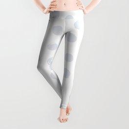 Light Grey Round Brush Strokes Pattern Leggings