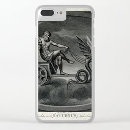 C Lasinio, after Raphael - Saturn with his Scythe, Riding in His Chariot Clear iPhone Case