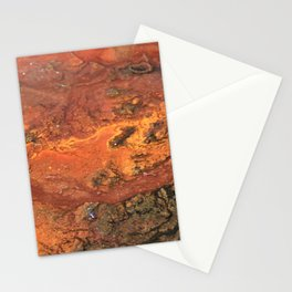 Mars mixed media on canvas, abstract art painting designs, contemporary artist colorful design Stationery Cards