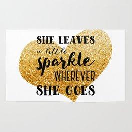 She Leaves a Little Sparkle Wherever She Goes Rug