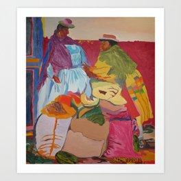 Happy Latin Ladies Art Print