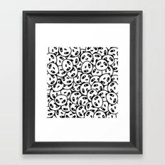 Pandamonium (Patterns Please Series #2) Framed Art Print