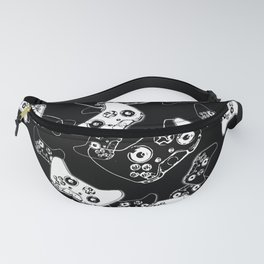 Video Game White on Black Fanny Pack