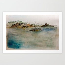 12 Islands On the Sea Art Print