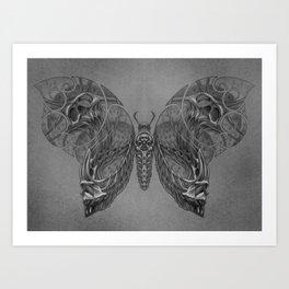 Butterfly skulls 2 Art Print