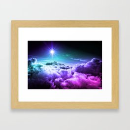 Cool Tone Ombre Clouds Framed Art Print