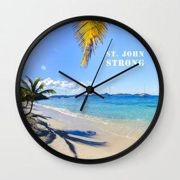 St. John Strong Wall Clock